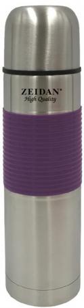Термос Zeidan Z-9048 0,5л серебристый фиолетовый термокружка zeidan z 9056 0 45л серебристый жёлтый