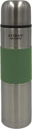 Термос Zeidan Z-9049 0,75л зелёный серебристый термокружка zeidan z 9056 0 45л серебристый жёлтый