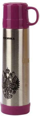 Термос Росинка РОС-208 0,5л серебристый красный рисунок чайник росинка эч 0 5 0 5 220 beige