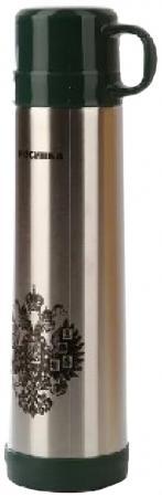 Термос Росинка РОС-209 0,75л серебристый чёрный рисунок чайник росинка эч 0 5 0 5 220 beige