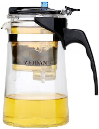 лучшая цена Чайник заварочный Zeidan Z-4171 чёрный прозрачный 0.6 л пластик/стекло