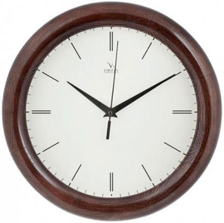 Часы настенные Вега Риски коричневый