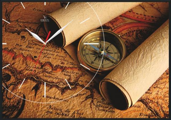 Часы настенные Вега КП-2 КАРТА рисунок