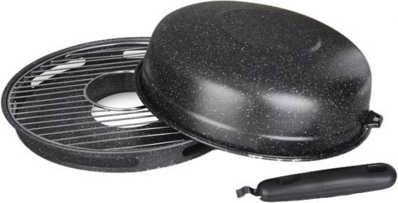 Сковородка-гриль Росинка РОС-301 32 см углеродистая сталь