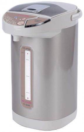 Термопот Viconte VC-3246 900 Вт серебристый белый 4.5 л нержавеющая сталь термопот supra tps 3013 900 вт серебристый белый 5 л нержавеющая сталь