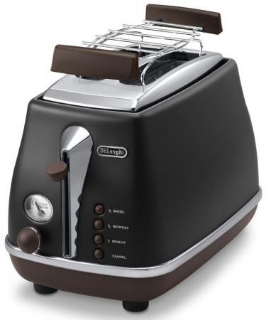 Тостер DeLonghi CTOV 2103 чёрный тостер delonghi cti 2103 w