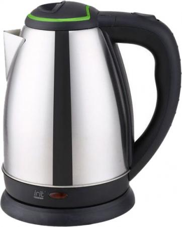 Чайник Irit IR-1338 1500 Вт чёрный серебристый зелёный 1.8 л нержавеющая сталь цена и фото