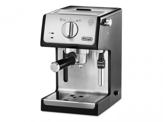 Кофеварка DeLonghi ECP 35.31 1100 Вт серебристый черный кофеварка гейзерная delonghi emkm 4 b черный серебристый