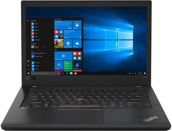 Ноутбук Lenovo ThinkPad T480 14 1920x1080 Intel Core i7-8550U 256 Gb 8Gb 4G LTE Intel UHD Graphics 620 черный Windows 10 Professional 20L50007RT
