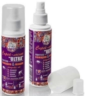 Спрей-лосьон Help Ultra: от комаров и клещей 125 мл 80511 концентрат от клещей help для защиты дачного участка 100 мл