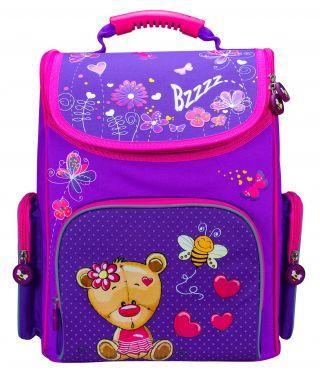 Ранец светоотражающие материалы Silwerhof Bear 20 л фиолетовый малиновый