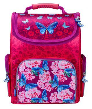 Ранец светоотражающие материалы Silwerhof Butterfly 20 л малиновый 1006189