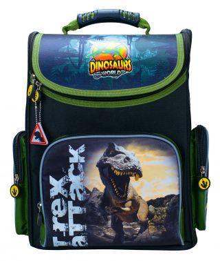 Ранец светоотражающие материалы Silwerhof Dinosaur 20 л зеленый черный 1006190 игрушка good dinosaur 62006