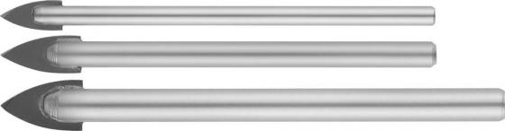 Набор сверл STAYER MASTER 2986-Н3 набор : сверла по керамике и стеклу d5-6-8мм набор сверл stayer master 2961 h10 z01