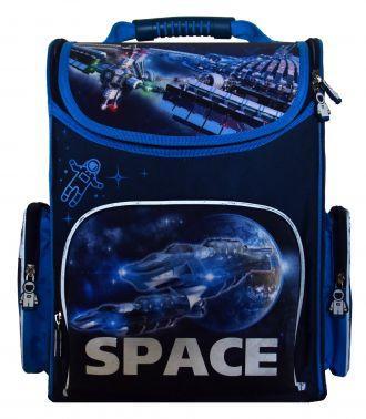 Ранец светоотражающие материалы Silwerhof Space 20 л голубой синий