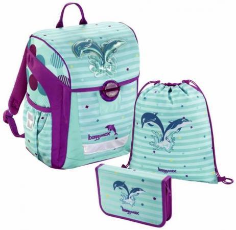 Ранец светоотражающие материалы Step by Step BaggyMax Trikky Dolphin 18 л рисунок голубой фиолетовый 00138650 цена и фото