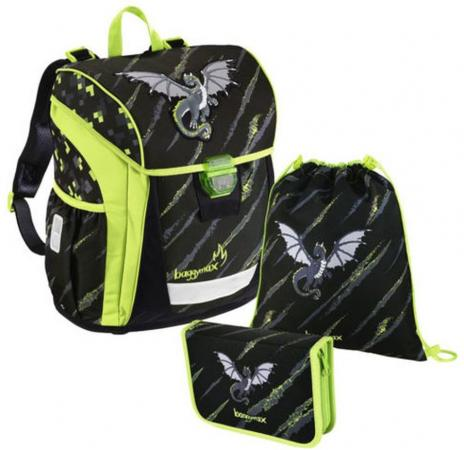 Ранец светоотражающие материалы Step by Step BaggyMax Trikky Dragon 18 л черный зеленый 00139031