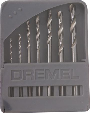 Набор сверл DREMEL 628 0.8-3.2мм, 7шт. набор резцов гравировальных dremel 108