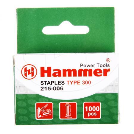 Гвозди для степлера Hammer Flex 215-006 14мм, сечение 1.2мм, T-образные (тип 300), 1000шт. гвозди для степлера matrix 57614