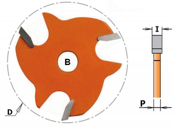 Фреза CMT 822.340.11 пазовая диск Z3 F=8 D=47.6x4 фреза cmt 918 1613