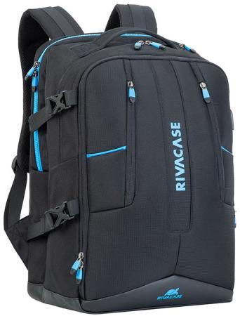 """Рюкзак для ноутбука 17.3"""" Riva 7860 полиэстер черный"""