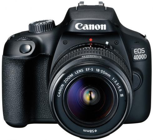 цена на Зеркальная фотокамера Canon EOS 4000D KIT 18-55mm 24Mp черный 3011C003