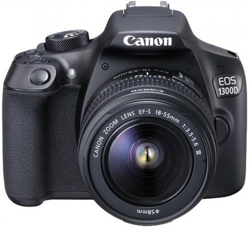 Зеркальная фотокамера Canon EOS 1300D KIT 18-135mm 18Mp черный 1160C097