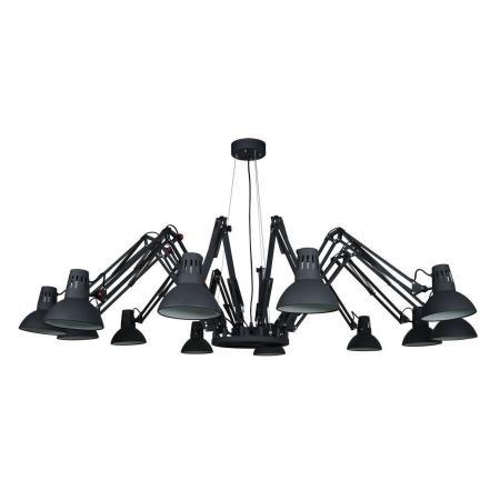 Подвесная люстра Arte Lamp Ragno A2043SP-12BK подвесная люстра arte lamp ragno a2043sp 16wh