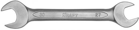 Ключ рожковый KRAFT КТ 700536 (27 / 30 мм) хром-ванадиевая сталь (Cr-V)