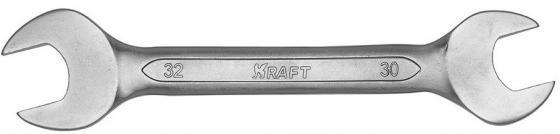 Ключ рожковый KRAFT КТ 700537 (30 / 32 мм) хром-ванадиевая сталь (Cr-V) съёмник шаровых опор шарнирных соединений с рычагом kraft cr v kt 701025