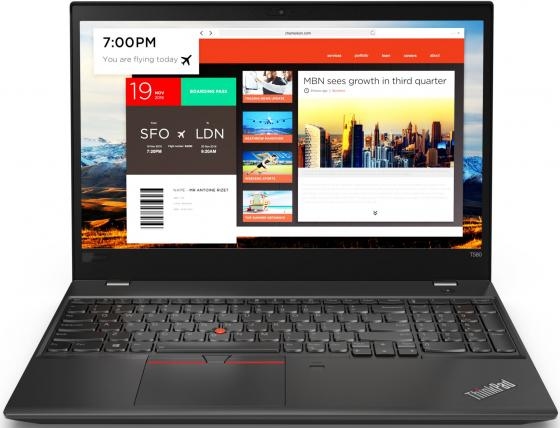 Ноутбук Lenovo ThinkPad T580 15.6 1920x1080 Intel Core i5-8250U 1 Tb 16 Gb 8Gb Intel UHD Graphics 620 черный Windows 10 Professional 20L9001XRT