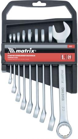 Набор комбинированных ключей MATRIX 15410 (6 - 22 мм) 9 шт. набор шестигранных удлиненных ключей 2 0 12 мм 9 шт matrix 11227