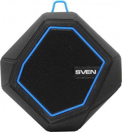 купить Портативная акустика Sven PS-77 5Вт Bluetooth черный синий онлайн