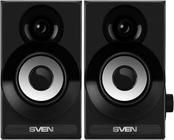 Колонки Sven SPS-517 2х3 Вт черный колонки sven sps 702 2х20 вт walnut орех