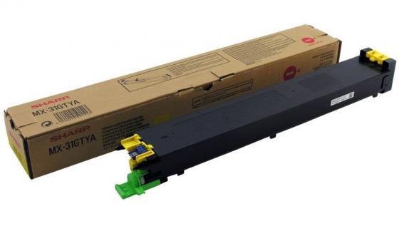 Тонер-картридж Sharp MX31GTYA желтый 15 000 страниц тонер картридж sharp sharp mx23gtba для mx 1810 2010 2310 3111 черный