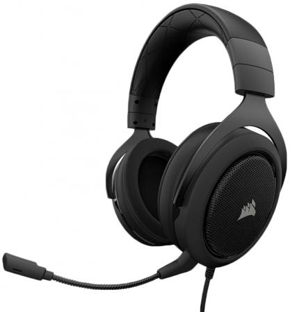 Игровая гарнитура проводная Corsair Gaming HS60 Surround Gaming Headset черный CA-9011173-EU turtle beach ear force cod mw3 foxtrot blk universal wired gaming headset for playstation 3