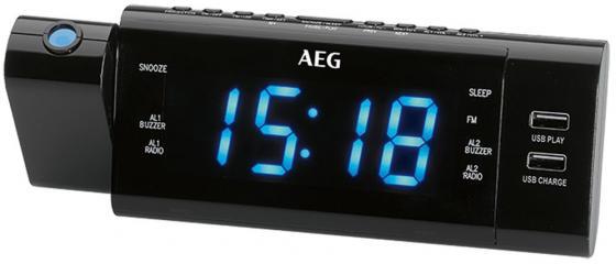 Часы с радиоприёмником AEG MRC 4159 P чёрный цена и фото