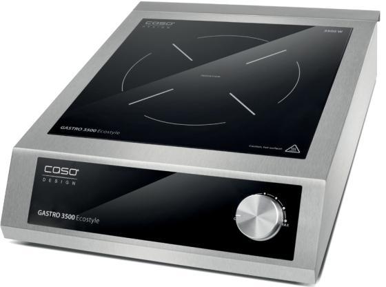 лучшая цена Индукционная электроплитка CASO Gastro 3500 Ecostyle серебристый