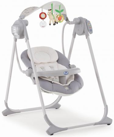 Качели электронные Chicco Polly Swing Up (silver) манежи chicco lullaby silver