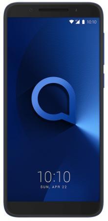 Смартфон Alcatel 3 5052D синий 5.5 16 Гб LTE Wi-Fi GPS 3G (5052D-2BALRU7) смартфон alcatel u5 3g 4047d черный синий 5 8 гб wi fi gps 3g 4047d 2calru1