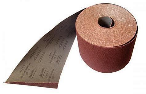 Лист шлифовальный ABRAFORCE 500855332 коричневая 100мм*3м P80