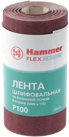 Лента шлиф. Hammer Flex 216-013 115х5м P100 бум. основа, рулон pet immunity wired outdoor microwave dual pir motion detector for gsm alarm system pir sensor