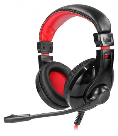 Гарнитура QUMO GHS 0009 черный красный gaming headset qumo champion ghs 0001