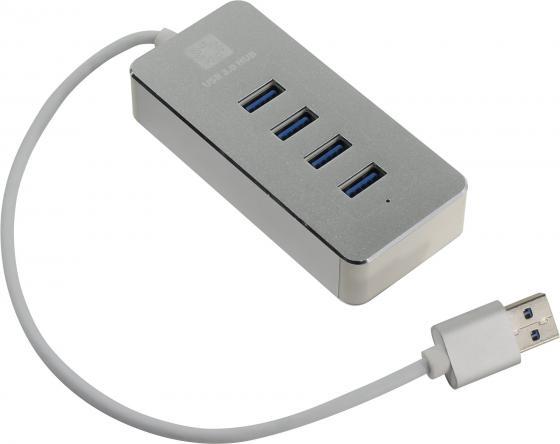 Концентратор USB 3.0 5bites HB34-308S 4 х USB 3.0 серебристый