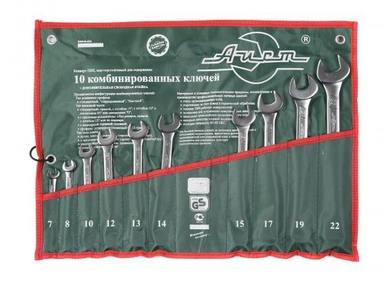 Набор комбинированных ключей AIST 0011310A (7 - 22 мм) 10 шт. набор отверток 6 шт aist 800406