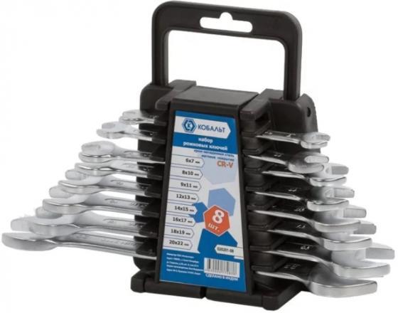 Набор рожковых ключей КОБАЛЬТ 020201-08 (6 - 22 мм) 8 шт. набор накидных гаечных ключей в чехле 8 шт кобальт 020301 08 6 22 мм
