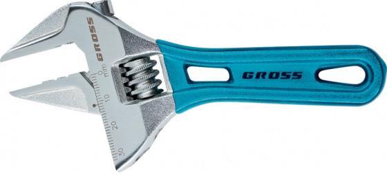 Ключ разводной GROSS 15565 (0 - 20 мм) 140 мм ключ гаечный разводной santool 031630 300 0 35 мм