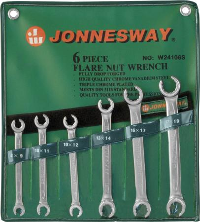 Набор рожковых ключей JONNESWAY W24106S (6 - 19 мм) 6 шт.