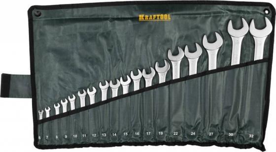 Набор комбинированных ключей KRAFTOOL 27079-H18 (6 - 32 мм) 18 шт. отвертка kraftool expert 26143 h18