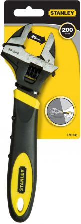 Ключ разводной STANLEY MaxSteel 0-90-948 (0 - 24 мм) 200мм ключ разводной stanley 250мм maxsteel 0 90 949